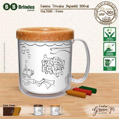 Imagem de Caneca Térmica Infantil Green 300ml