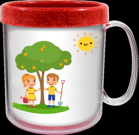 Imagem de Caneca Térmica Infantil Green Colors 300ml CL